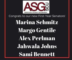 First-Year Senators Annoucement